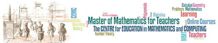 Master of Mathematics for Teachers Banner
