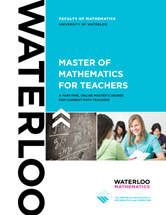 Master of Mathematics for Teachers